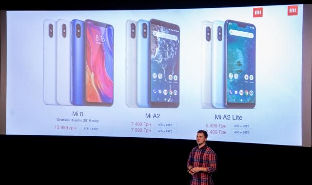 Xiaomi презентувала в Україні нові смартфони – Mi A2 та Mi A2 Lite