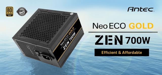 Оновлення асортименту блоків живлення ANTEC 80+GOLD – нова серія NEO ECO GOLD ZEN
