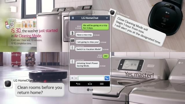 Новый мобильный сервис LG HomeChat поможет управлять бытовой техникой