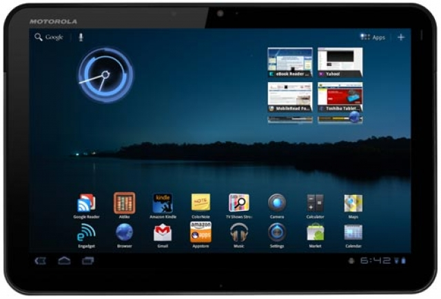 Motorola XOOM Wi-Fi получает  Ice Cream Sandwich
