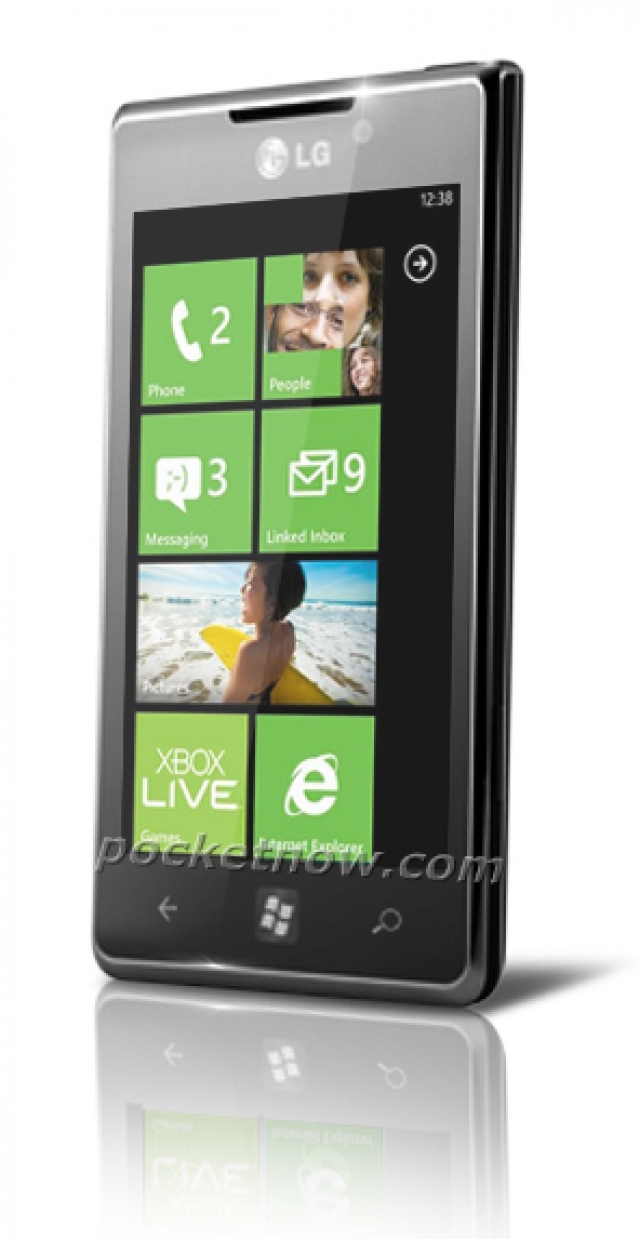 LG Miracle - смартфон среднего класса под управлением  Windows Phone
