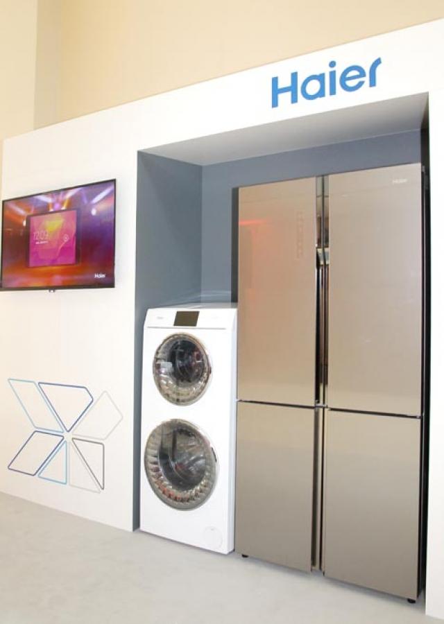 На IFA 2015 Haier показала двухэтажную стиральную машину