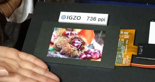 """Sharp анонсировала 4.1"""" IGZO LCD-дисплей с феноменальной плотностью пикселей"""