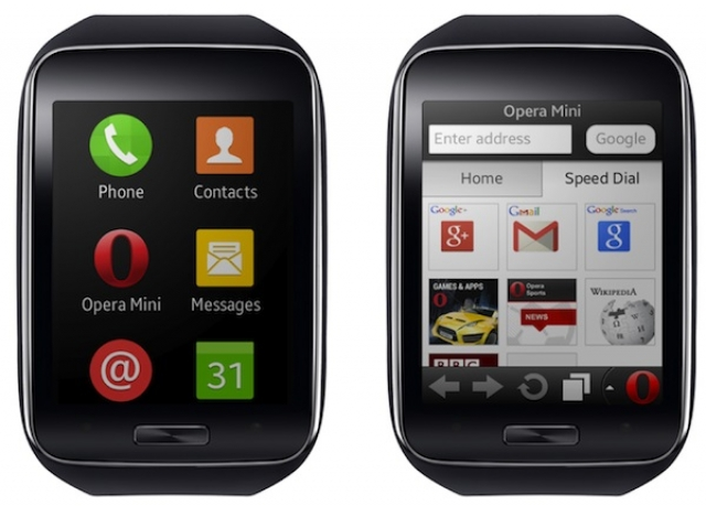 Opera Mini станет первым браузером для смартчасов Samsung Gear S