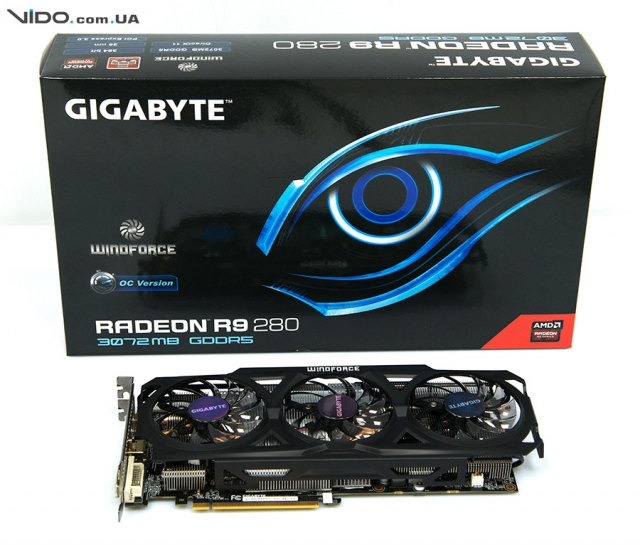 Видеообзор графического адаптера Gigabyte Radeon R9 280