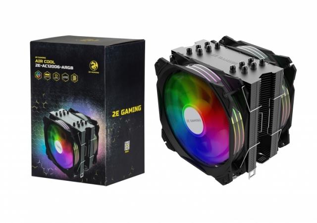 2E GAMING AIR COOL (2E-AC120D6-ARGB): кулер для охолодження процесора із показником TDP 180W