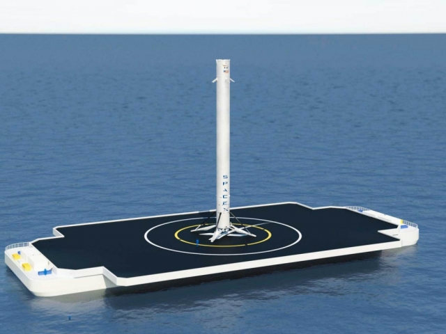 SpaceX здійснила успішну посадку ракети Falcon 9 на платформу в океані