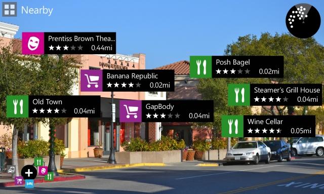 Nokia тестирует дополненную реальность на Lumia