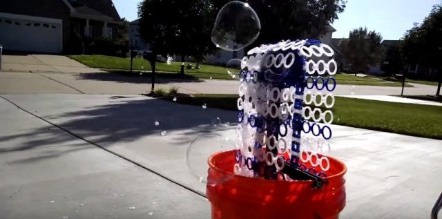 """Напечатанное на 3D принтере """"Ведро пузырьков"""" создает до 14 000 пузырьков в минуту"""