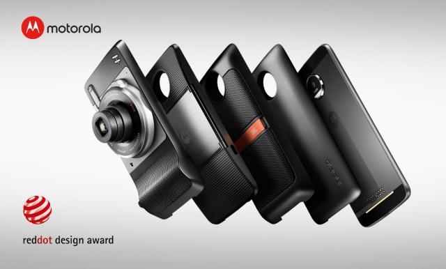 Сім'я смартфонів Moto Z відзначена престижною премією Red Dot 2017 за кращий дизайн