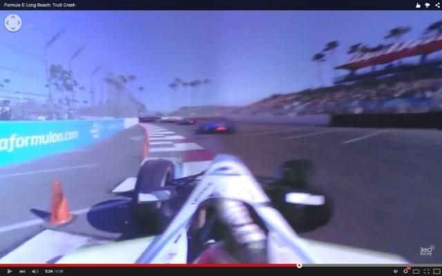 360-градусное видео, снятое с болида Формулы Е