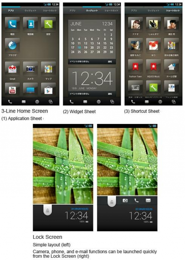 Sharp выделяется из серых масс – новый пользовательский интерфейс для смартфонов