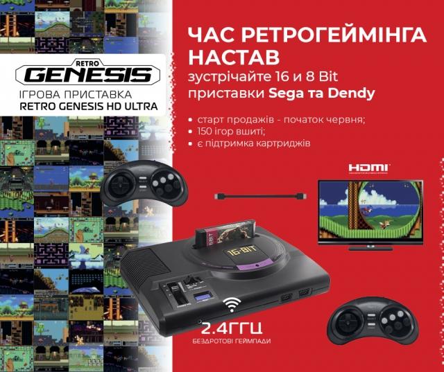 ERC - офіційний представник Retro Genesis