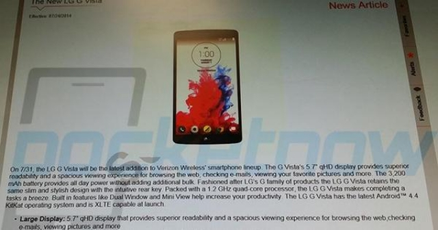 LG G Vista разочаровал своими характеристиками