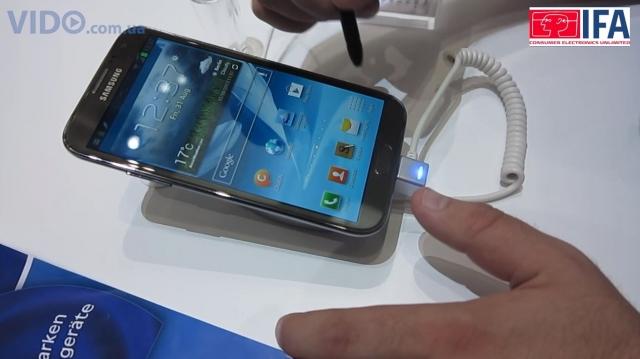 Первое видео с Samsung Galaxy Note II