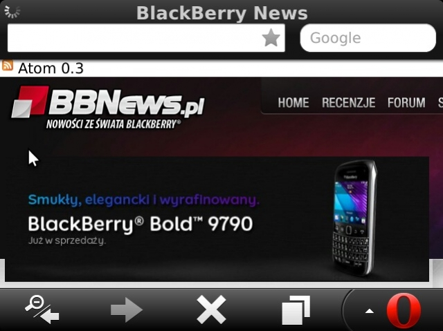 Opera Mini 7.1 для телефонов  BlackBerry и Java