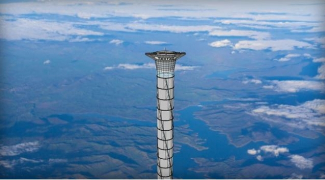 Может ли надувная труба из кевлара быть практичным космическим лифтом?