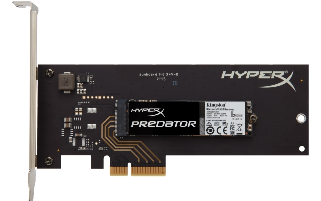 HyperX представляет высокоскоростные SSD PCIe