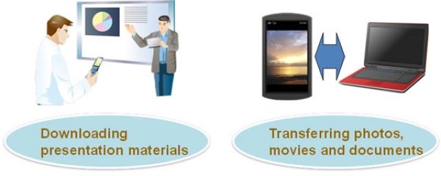Передавать файлы на телефон Fujitsu можно сфотографировав экран компьютера