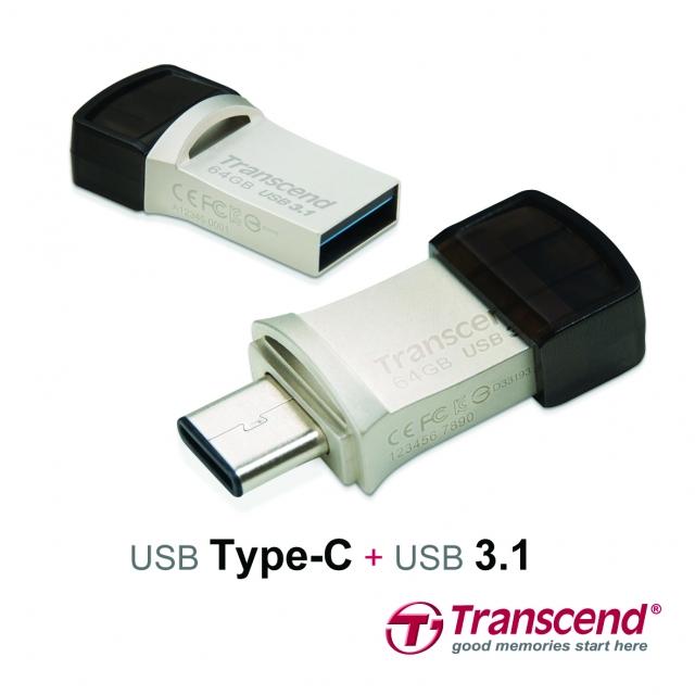 Transcend JetFlash 890S з роз'ємами USB Type-C та USB 3.1