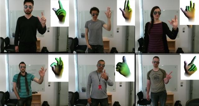 Microsoft Research создали программное обеспечение «Handpose», которое отслеживает движения ладоней и пальцев