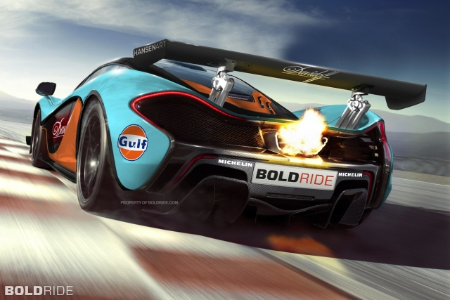 McLaren представила легендарный суперкар P1 в эксклюзивной расцветке