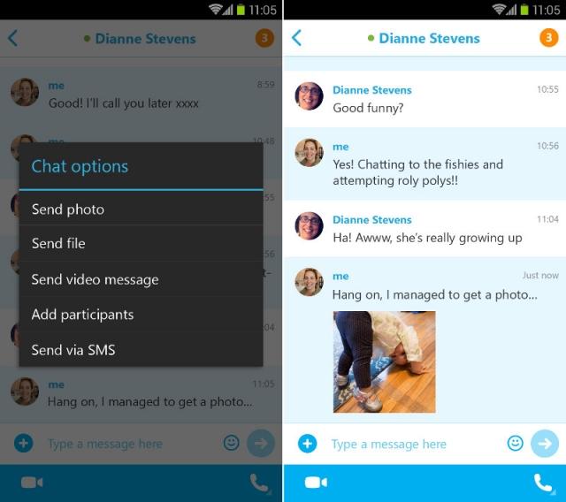 Новые функции Skype 5.2 для Android
