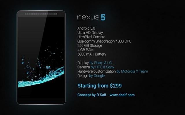 Nexus 5 обрастает слухами – подробности нового концепта!
