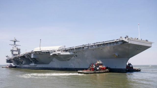 США випробовує найбільший у світі авіаносець USS Gerald Ford