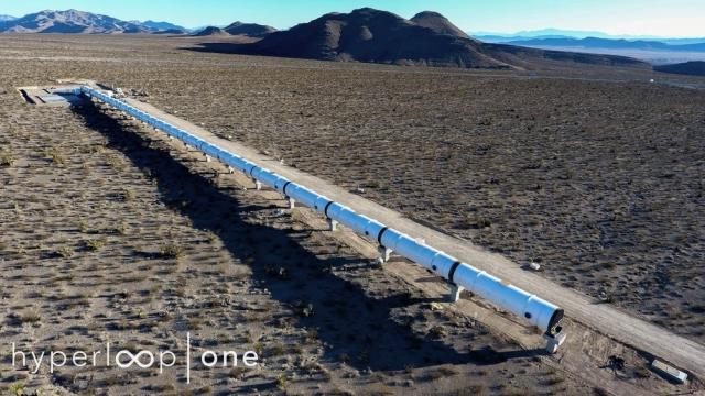 З'явились фотографії з місця будівництва треку Hyperloop