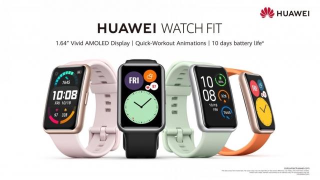 Huawei представила фітнес-годинник Huawei Watch Fit із вдосконаленими моніторингом здоров'я та спорт-функціями