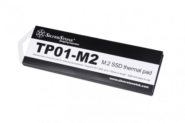 Термопрокладки SST-TP01-M2 – ідея для охолодження накопичувачів типу М.2 від SilverStone