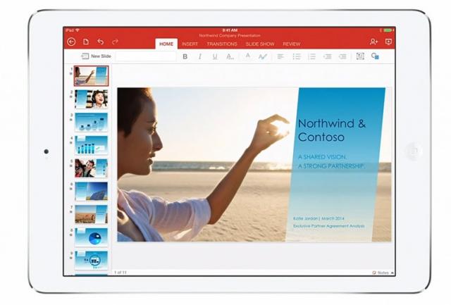 Microsoft представила Office для iPad
