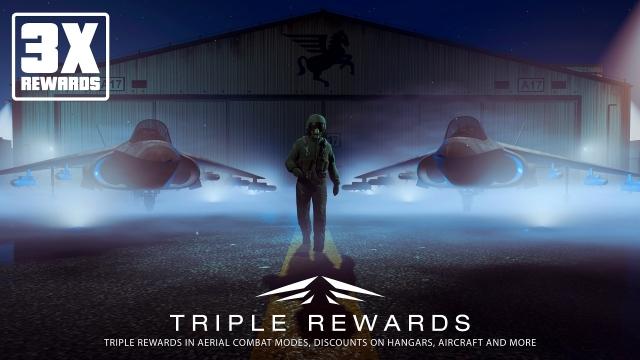 Потрійні нагороди за бойові режими в повітрі, знижки на ангари, літаки в GTA Online