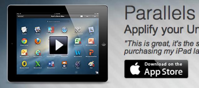 Parallels Access для iPad предлагает удаленный доступ к приложениям для Mac и Windows