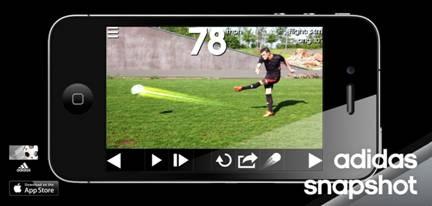 Adidas запускает первое в мире футбольное трекинг-приложение