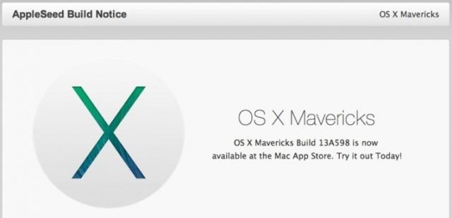 Apple выборочно предлагает OS X Mavericks, как бесплатную загрузку