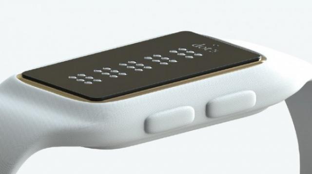 Смарт-часы Брайля позволят слепым людям читать СМС