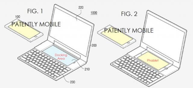 Samsung запатентовали док-станцию ноутбук-смартфон с двойной ОС
