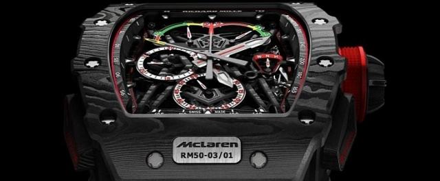 Найлегший в світі механічний хронограф McLaren F1 RM 50-03 за майже мільйон доларів