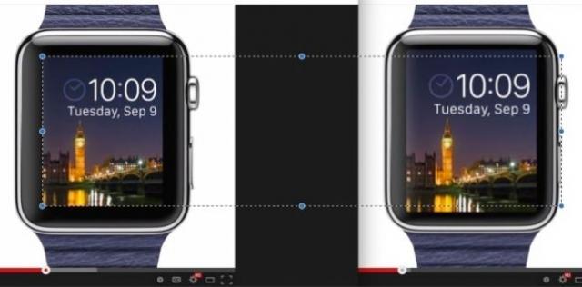 Экран Apple Watch оказался меньше заявленного в оригинальном промо-видео