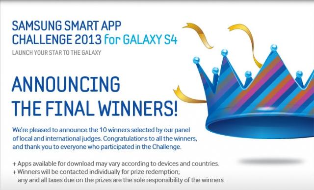 Победители конкурса приложений для Galaxy S4 от Samsung