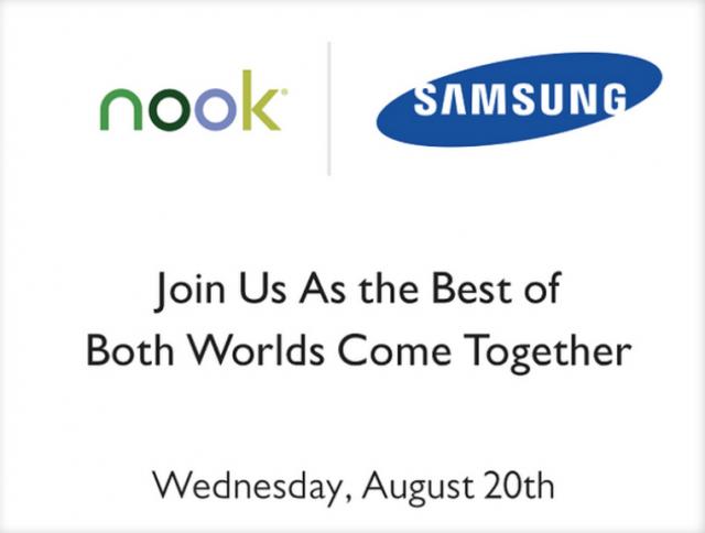 Samsung и Barnes&Noble проведут совместный Nook-ивент