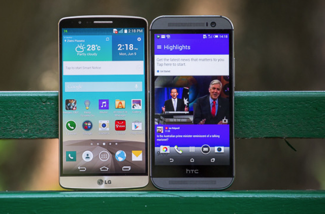LG G3 vs HTC One M8: дизайн и дисплей