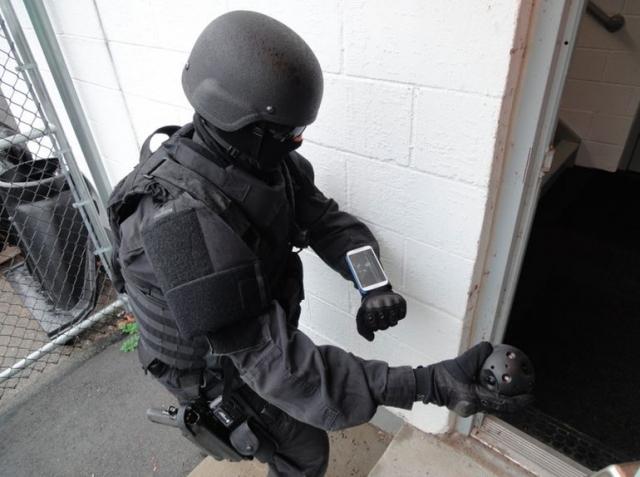 Сферическая метательная камера-мяч для полиции