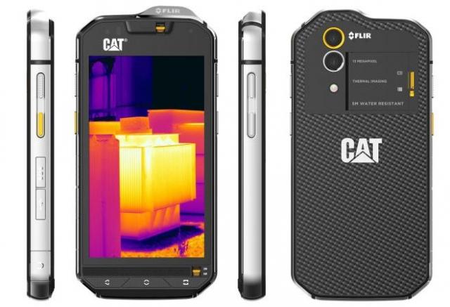 Смартфон со встроенной тепловой камерой – CAT S60