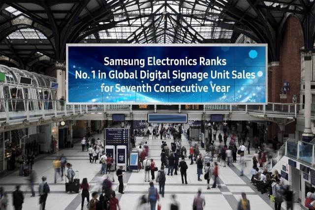 Samsung - лидер продаж в сегменте цифровых вывесок