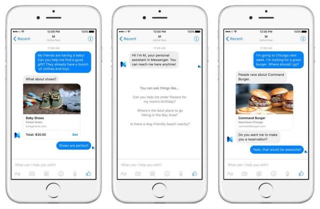 Новый персональный помощник Facebook M - это смесь человека и машины