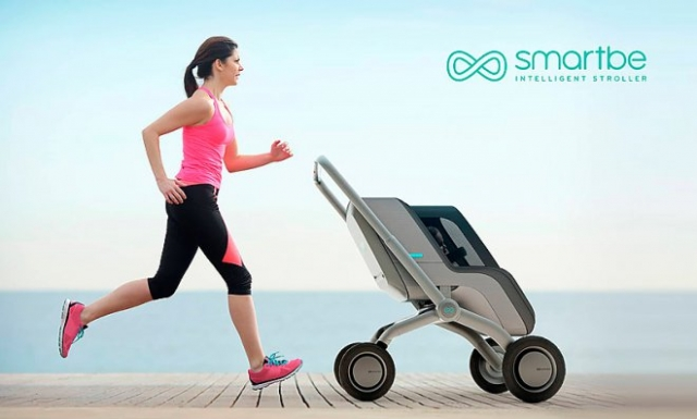 «Розумна» дитяча  коляска з автопілотом - Smartbe