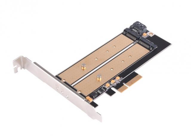 Багатофункціональний адаптер і пристрій для охолодження швидкісних накопичувачів типу M.2 NVMe - SilverStone SST-ECM22